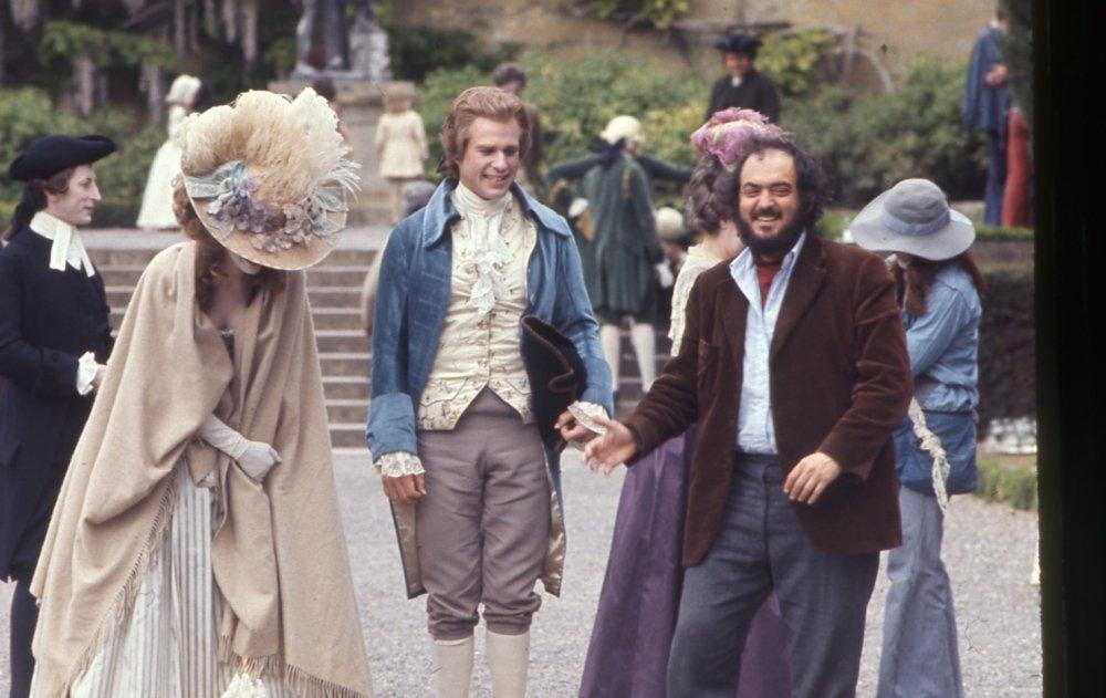Kubrick shares a joke with O'Neal and Berenson