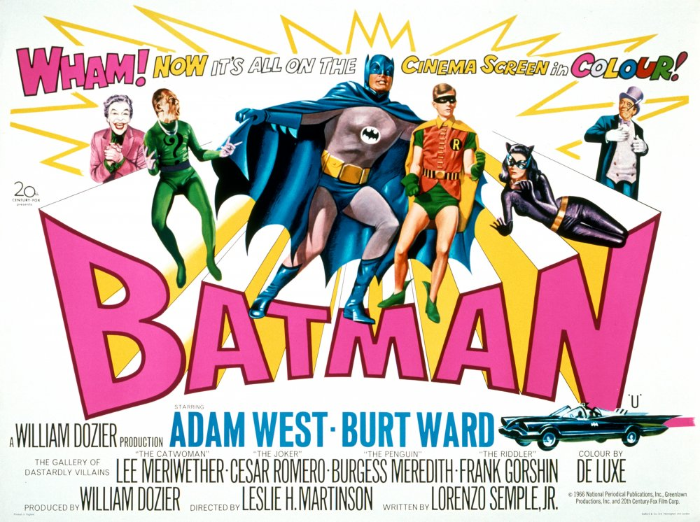 The original poster for the 1966 film Batman, directed by the world's second oldest living filmmaker