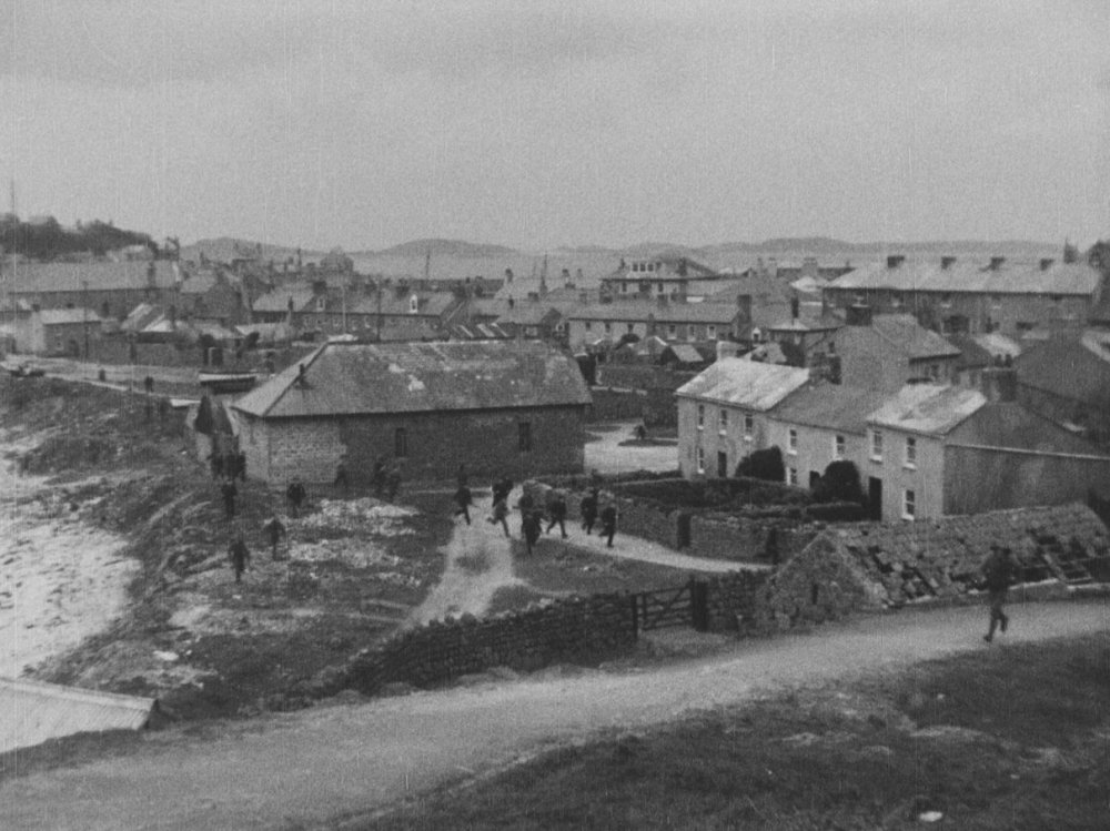 The Battles of Coronel and Falkland Islands (1927): frame still from the film overlooking St Mary's, Scilly Isles