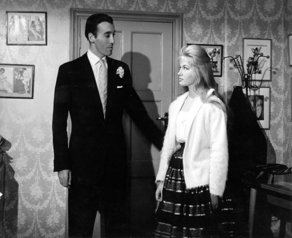 Christopher Lee and Gillian Hills in Beat Girl