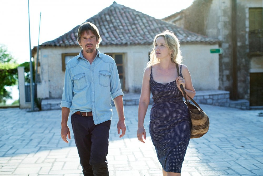 Ethan Hawke as Jesse and Julie Delpy as Celine in Richard Linklater's Before Midnight