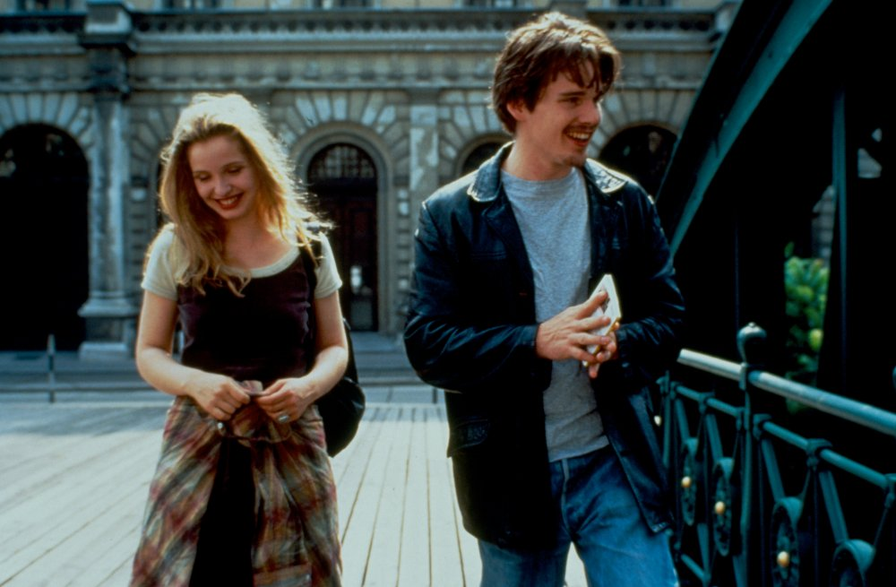 Julie Delpy and Ethan Hawke in Before Sunrise