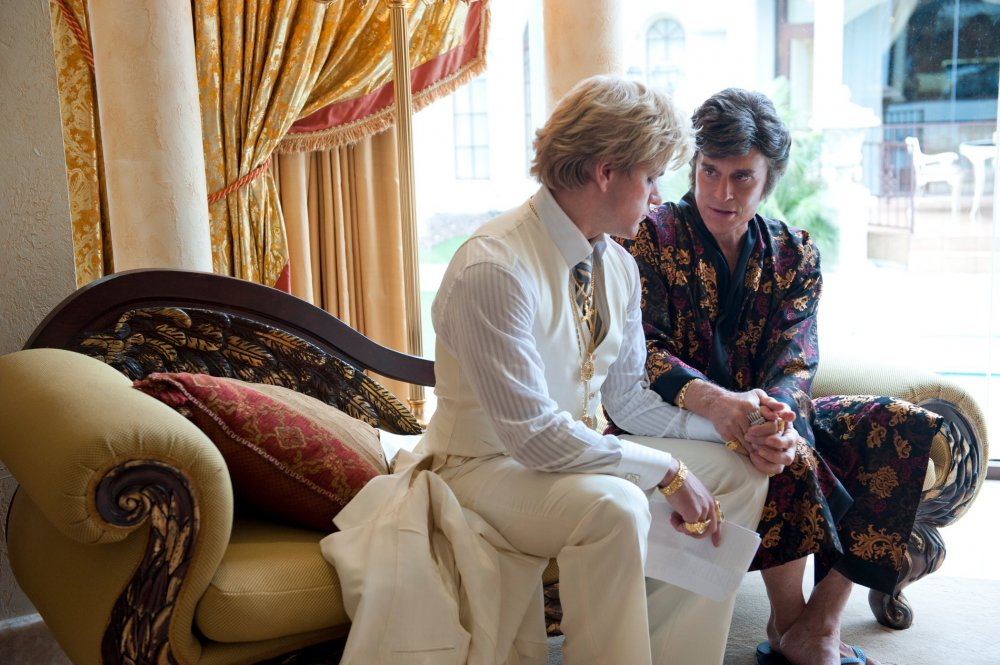 Matt Damon and Michael Douglas in Behind the Candelabra: My Life with Liberace (2013)