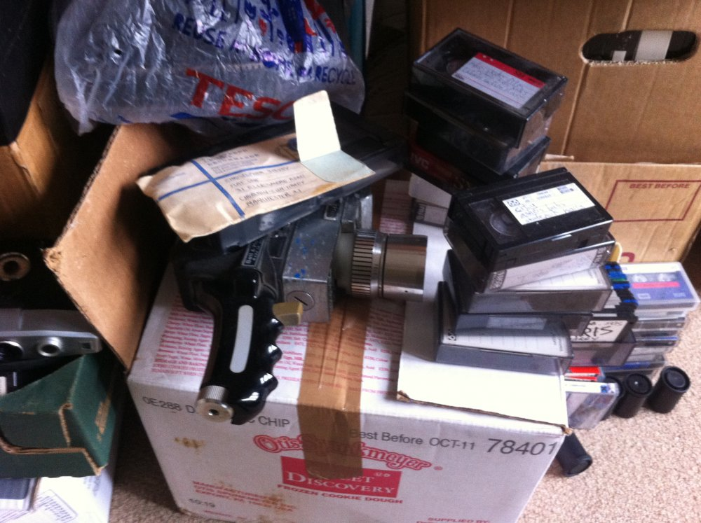 Chris Sievey's Super 8 camera and formats galore, including VHS-C, the miniature VHS