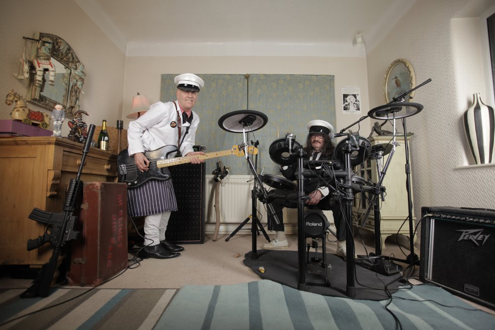Rick Sarko and Martin Sievey of the Oh Blimey Big Band