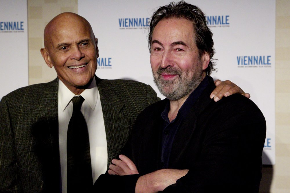 Hurch with Harry Belafonte (left)