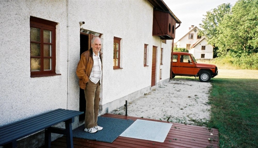Ingmar Bergman at his cinema barn.