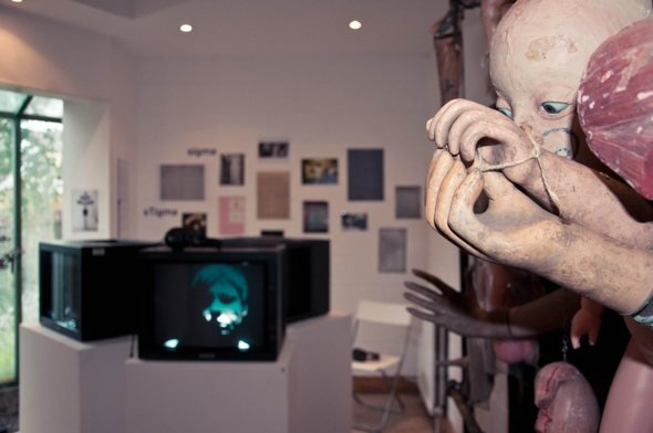 The exhibition, in the Hand, John Latham's former studio