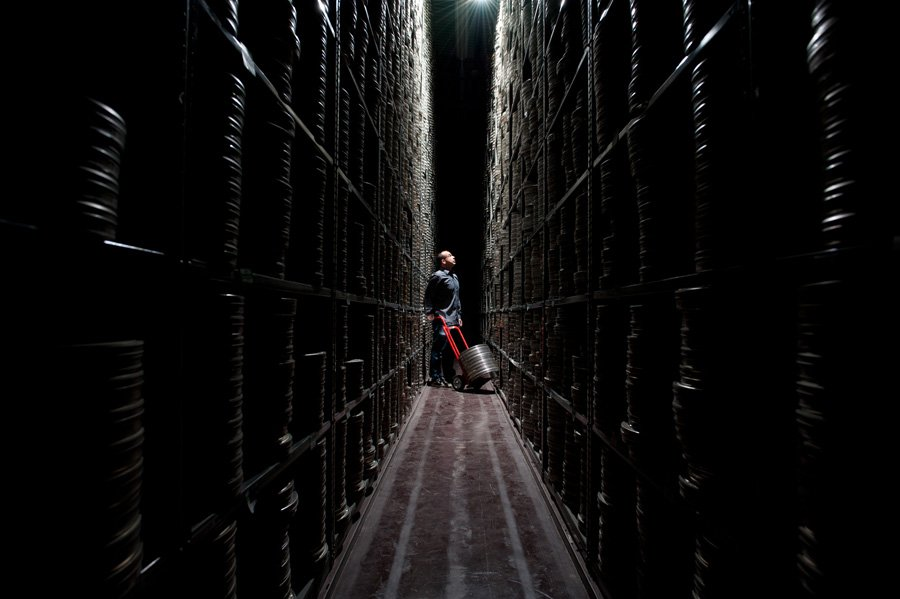 Accessing the BFI's film print collection from vault storage, with Scott Starck, Production Manager