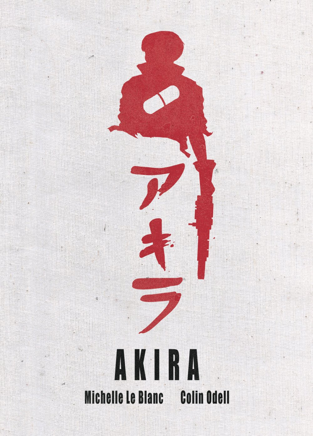 Commended design for the Akira cover by Isobel Mackenzie