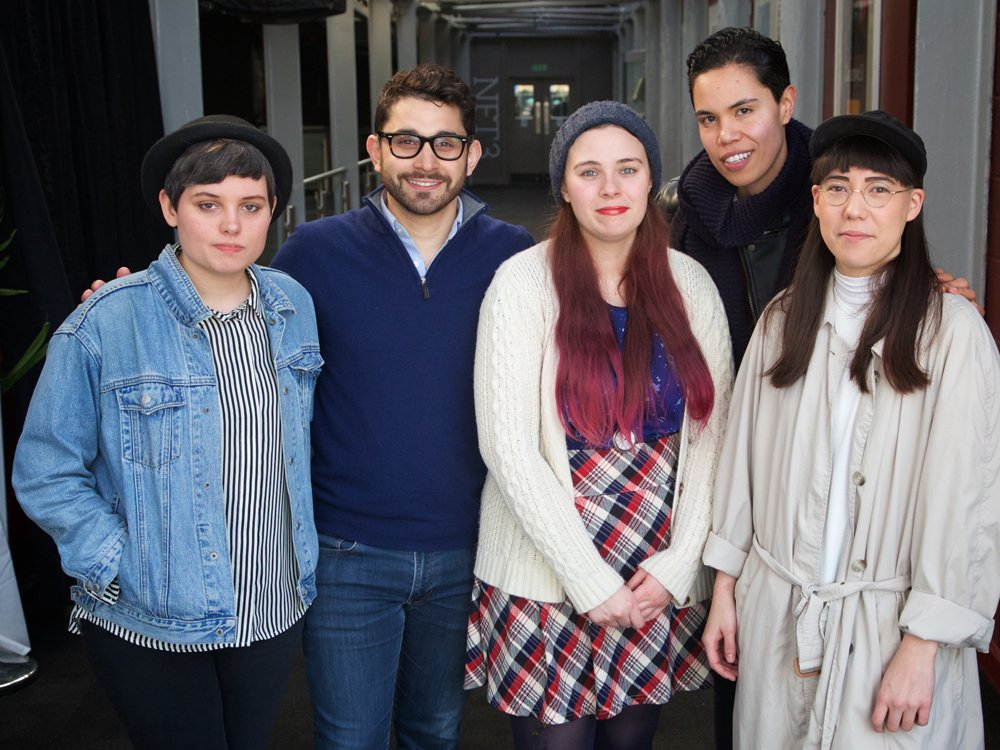2015 BFI Flare Mentees (from left to right): Scout Stuart, Aleem Khan, Islay Bell-Webb, Rachelle Constant, Claire Kurylowski