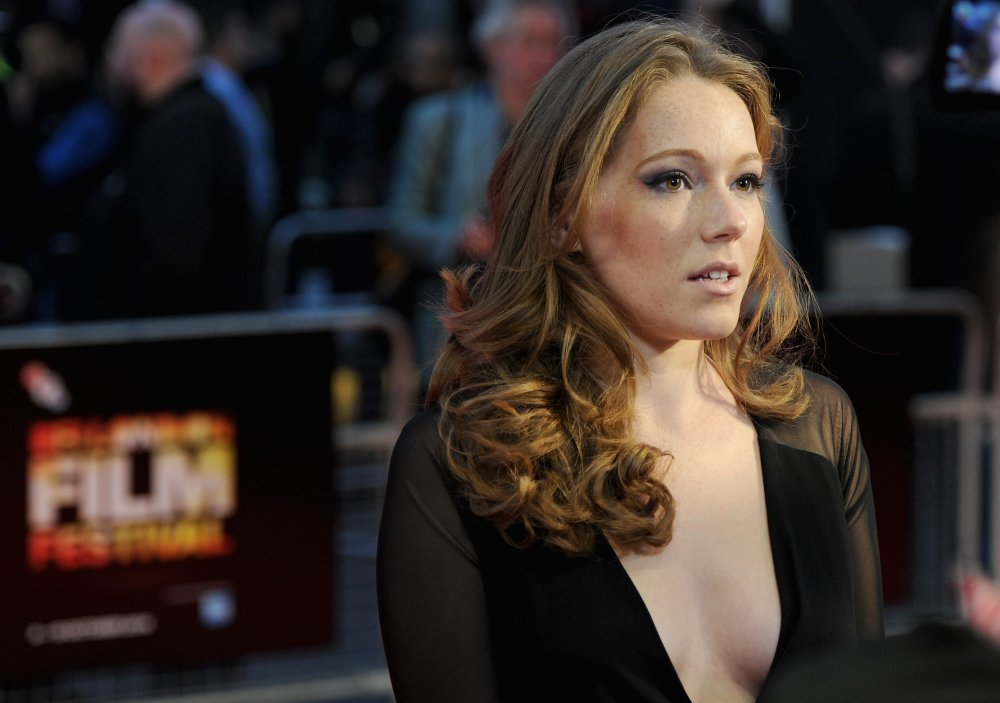 Charlotte Spence on the red carpet for Bypass at the 58th BFI London Film Festival