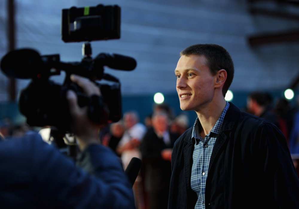 George MacKay on the red carpet for Bypass at the 58th BFI London Film Festival