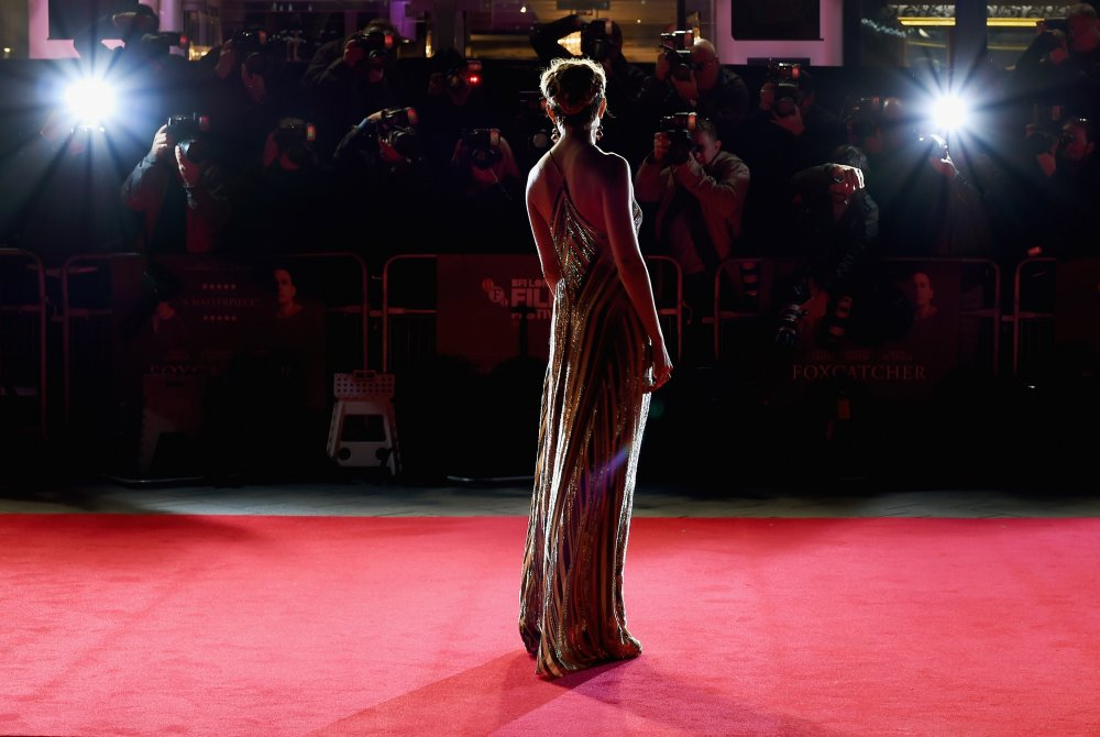 Sienna Miller on the red carpet for Foxcatcher during the 58th BFI London Film Festival