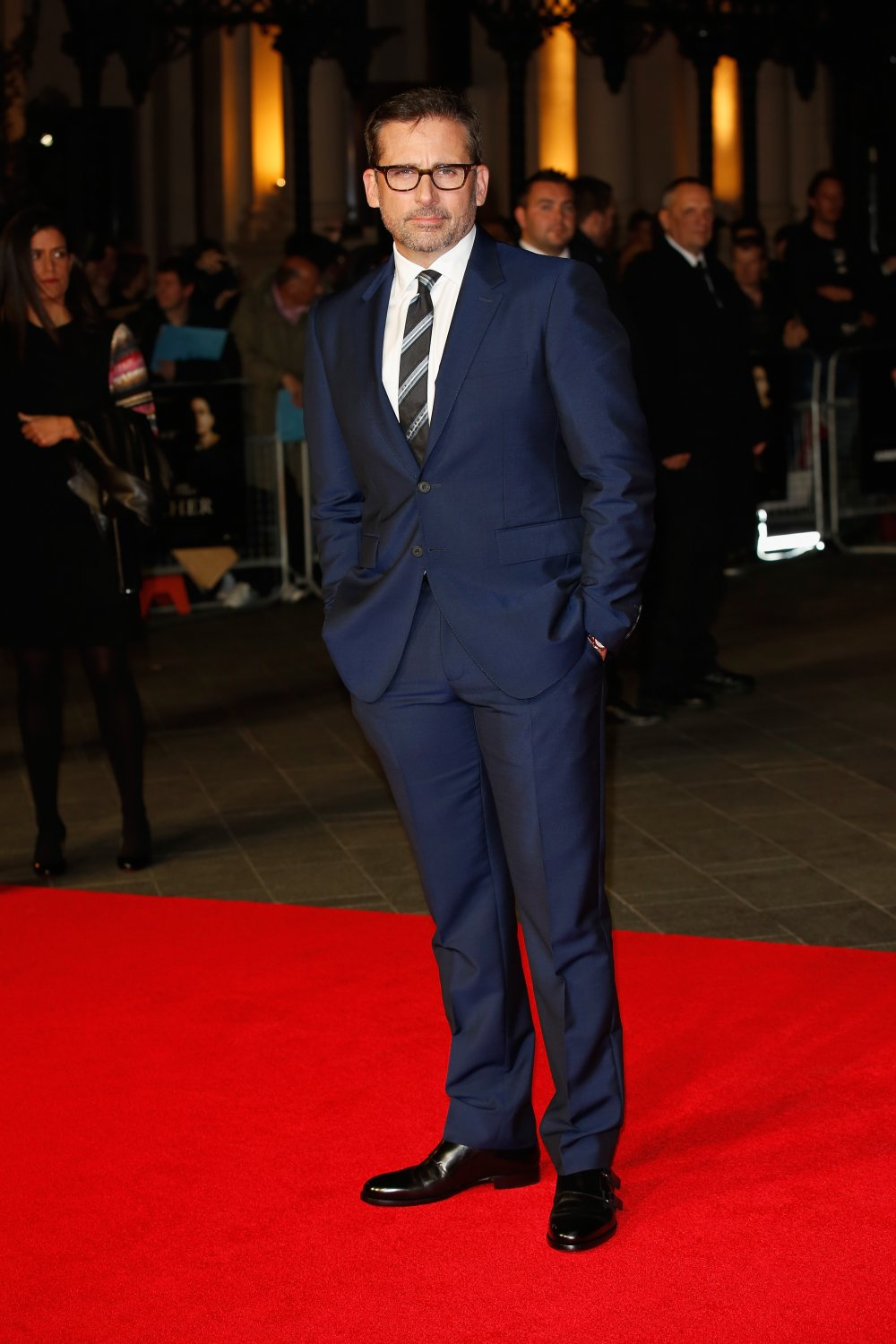 Steve Carell on the red carpet for Foxcatcher during the 58th BFI London Film Festival