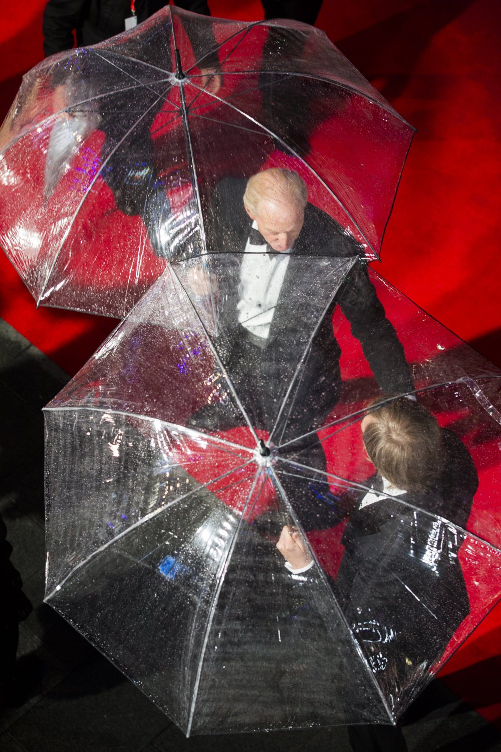 Charles Dance and Morten Tyldum on the red carpet for The Imitation Game at the 58th BFI London Film Festival