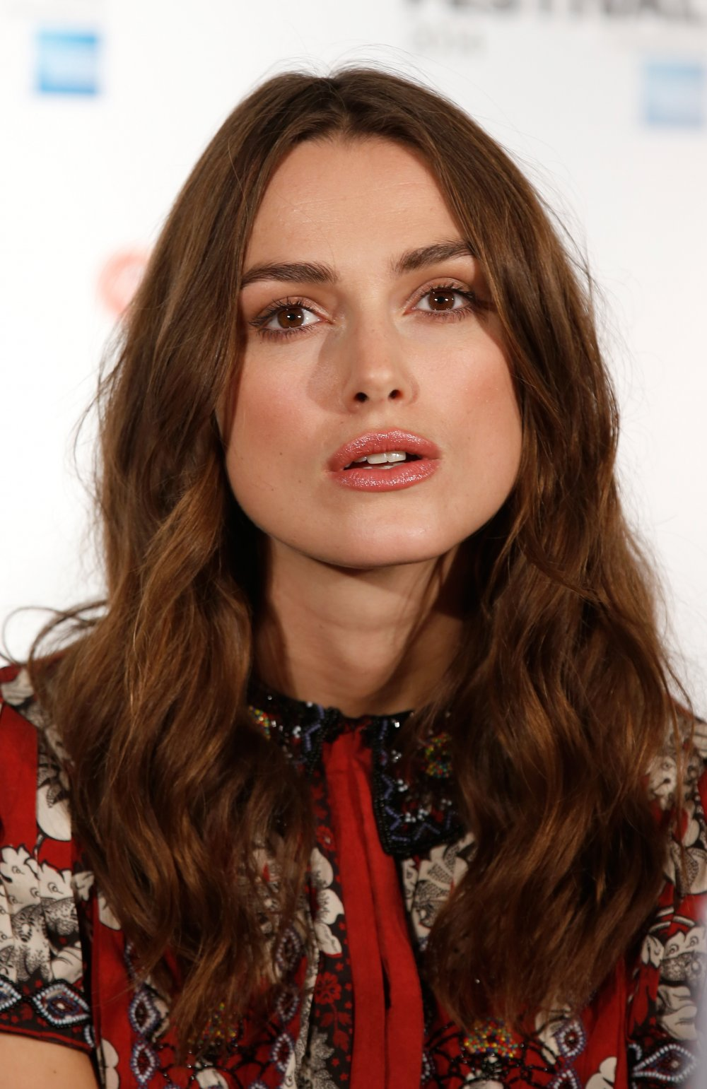 Keira Knightley at the press conference for The Imitation Game at the 58th BFI London Film Festival