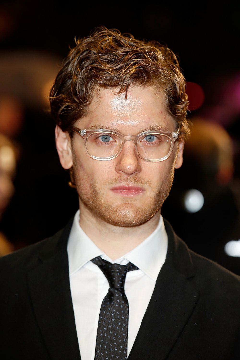Kyle Soller on the red carpet for The Keeping Room at the 58th BFI London Film Festival