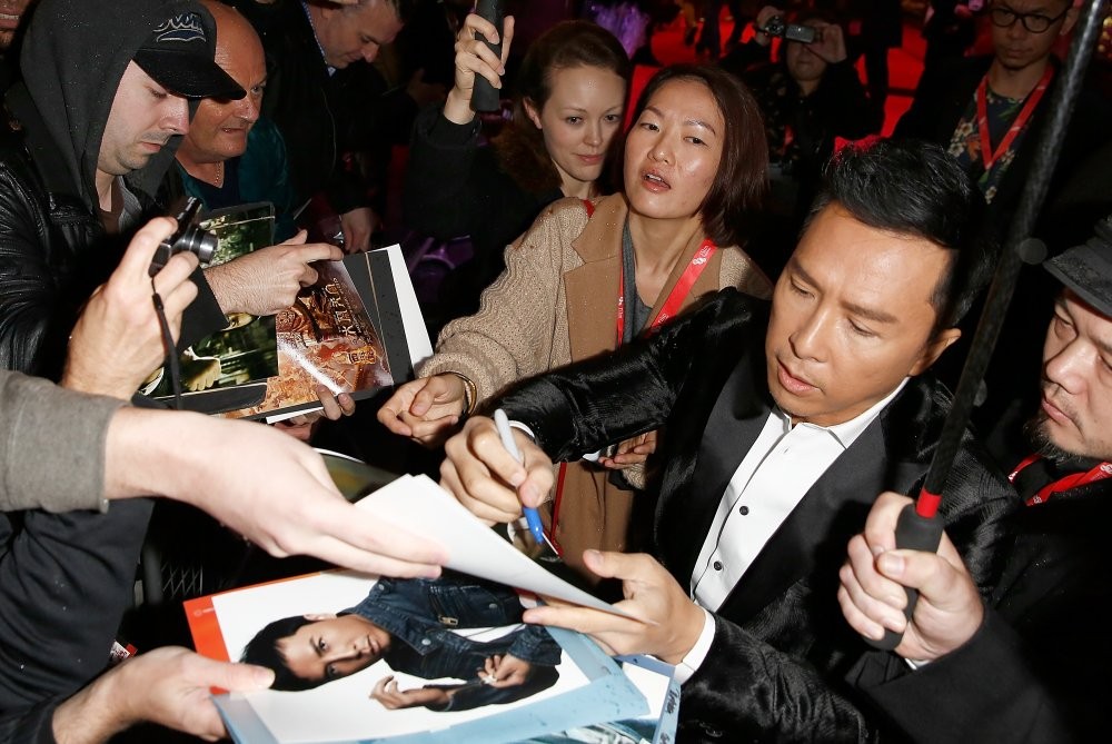 Donnie Yen on the red carpet for Kung Fu Jungle at the 58th BFI London Film Festival