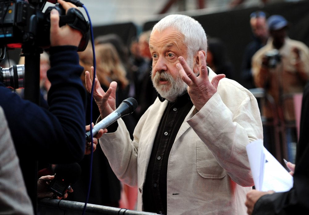Mike Leigh on the red carpet for Mr. Turner at the 58th BFI London Film Festival