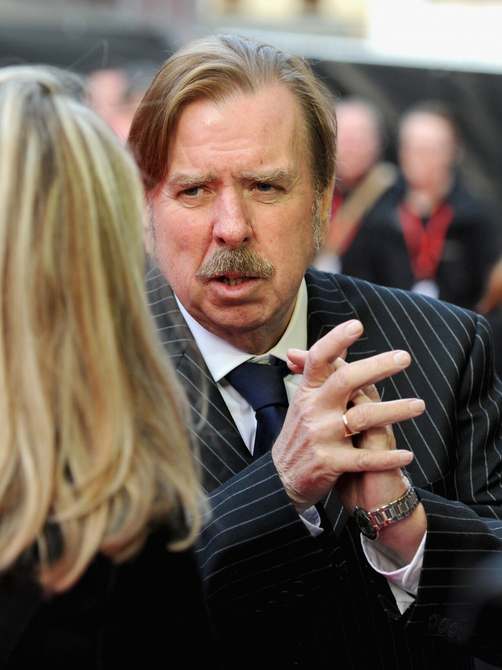 Timothy Spall on the red carpet for Mr. Turner at the 58th BFI London Film Festival