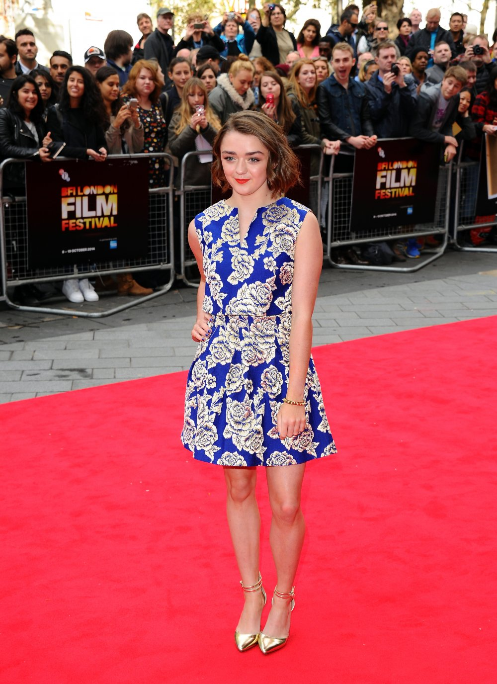 Maisie Williams on the red carpet for The Falling at the 58th BFI London Film Festival