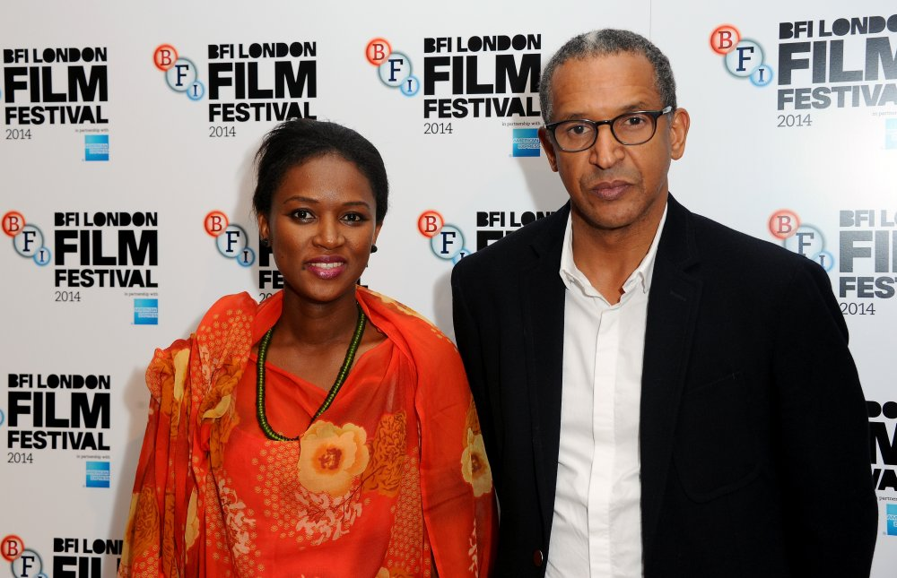 Screenwriter Kessen Tall and director Abderrahmane Sissako attend the Official Competition screening of Timbuktu at the 58th BFI London Film Festival
