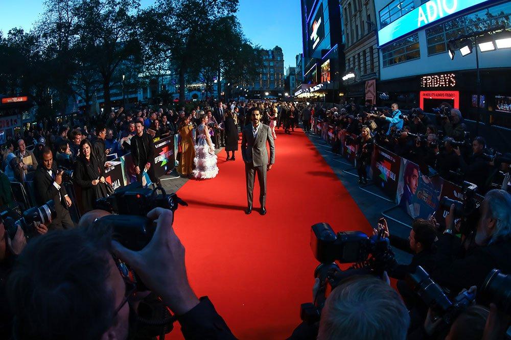 Dev Patel on the red carpet for Opening Night, 63rd BFI London Film Festival