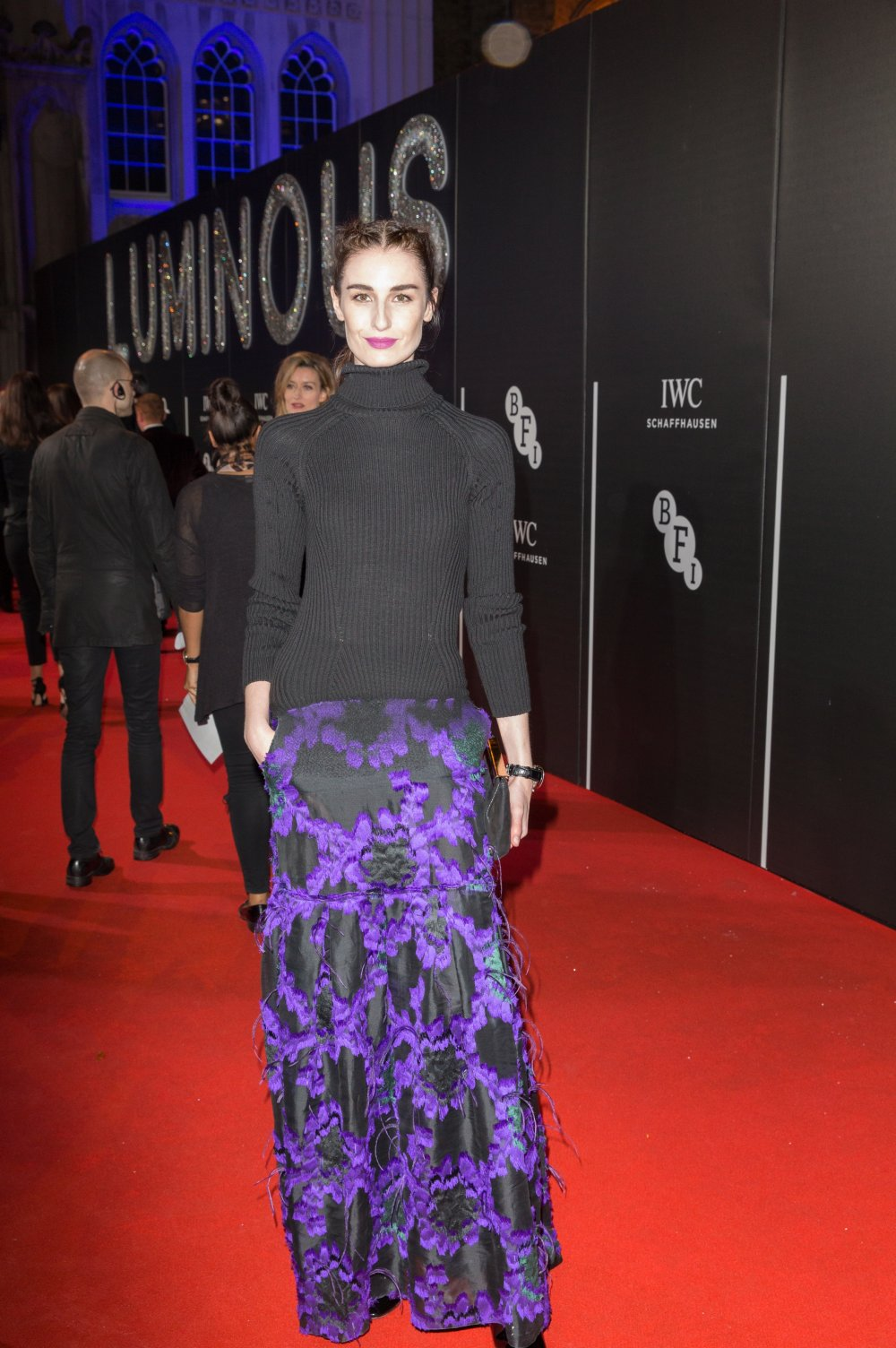 Erin O'Connor attends the BFI LUMINOUS gala 2015