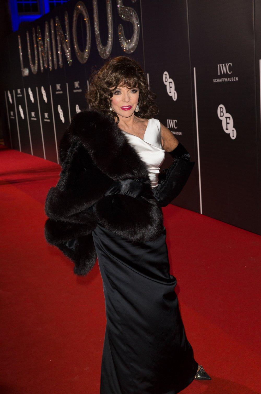 Joan Collins attends the BFI LUMINOUS gala 2015