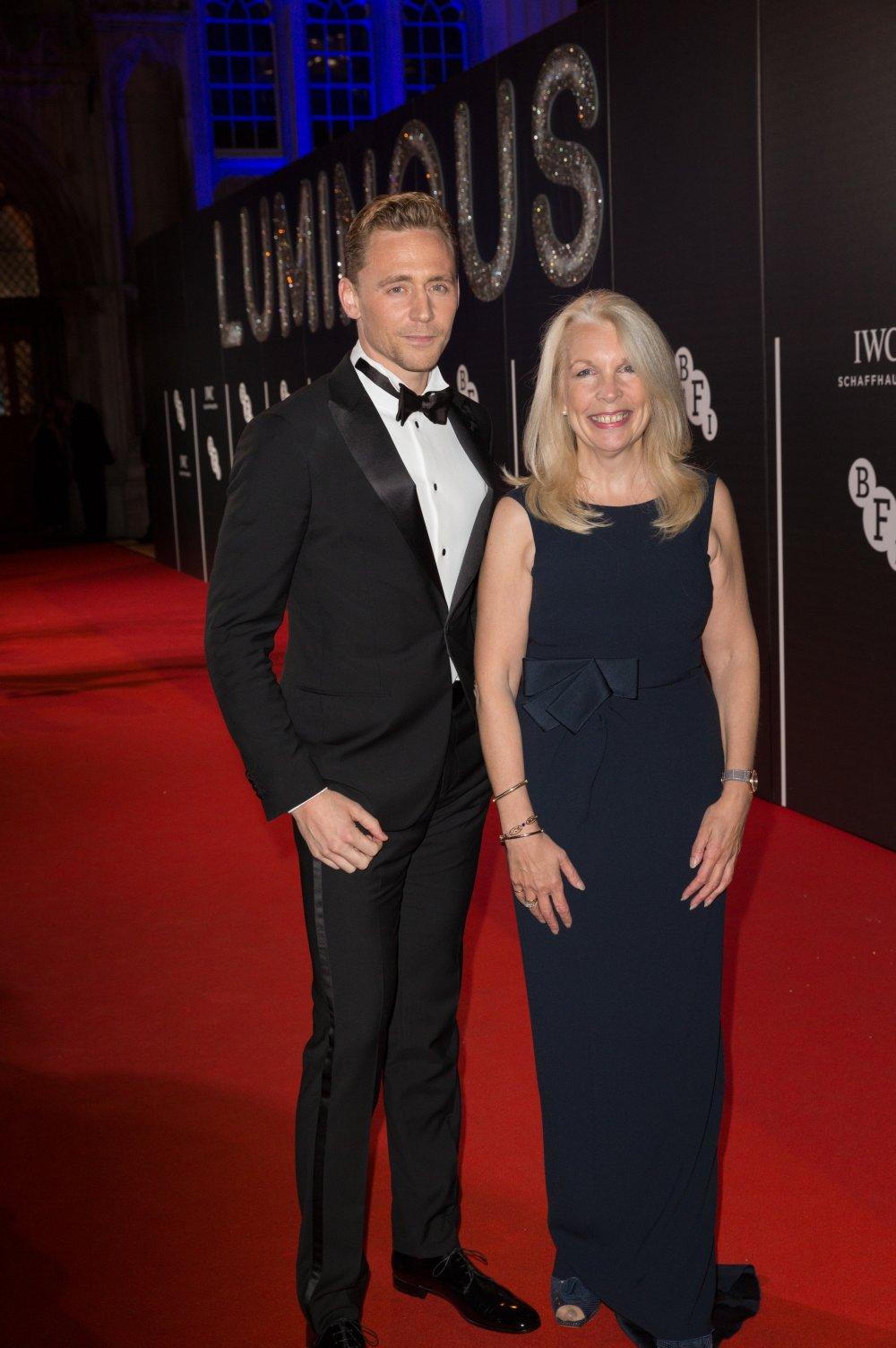 Tom Hiddleston and BFI Chief Executive Amanda Nevill attends the BFI LUMINOUS gala 2015