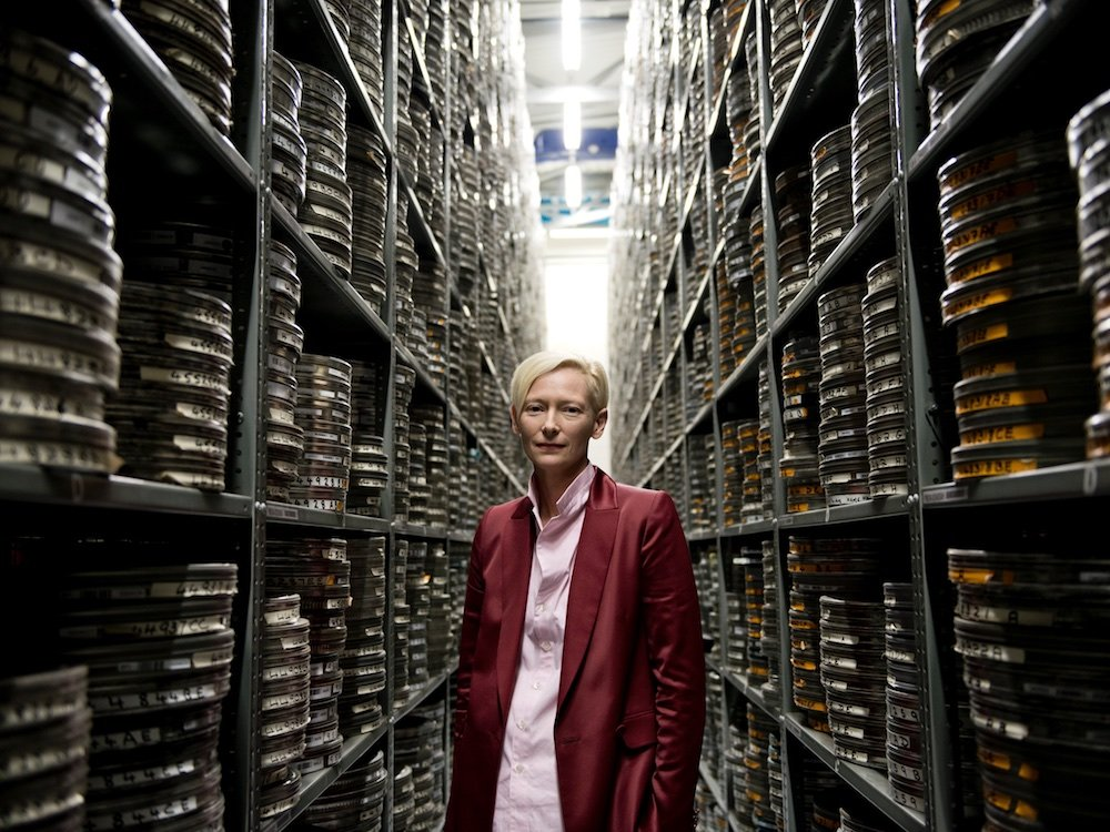 Oscar-winning actor Tilda Swinton, guest speaker at this year's LUMINOUS gala at the BFI National Archive, August 2017