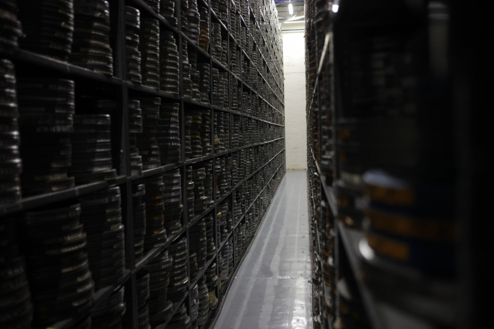 Stacks at the BFI National Archive
