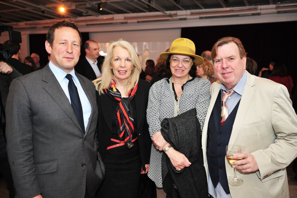 Culture Minister Ed Vaizey, BFI CEO Amanda Nevill, and Shane and Timothy Spall (Mr Turner)