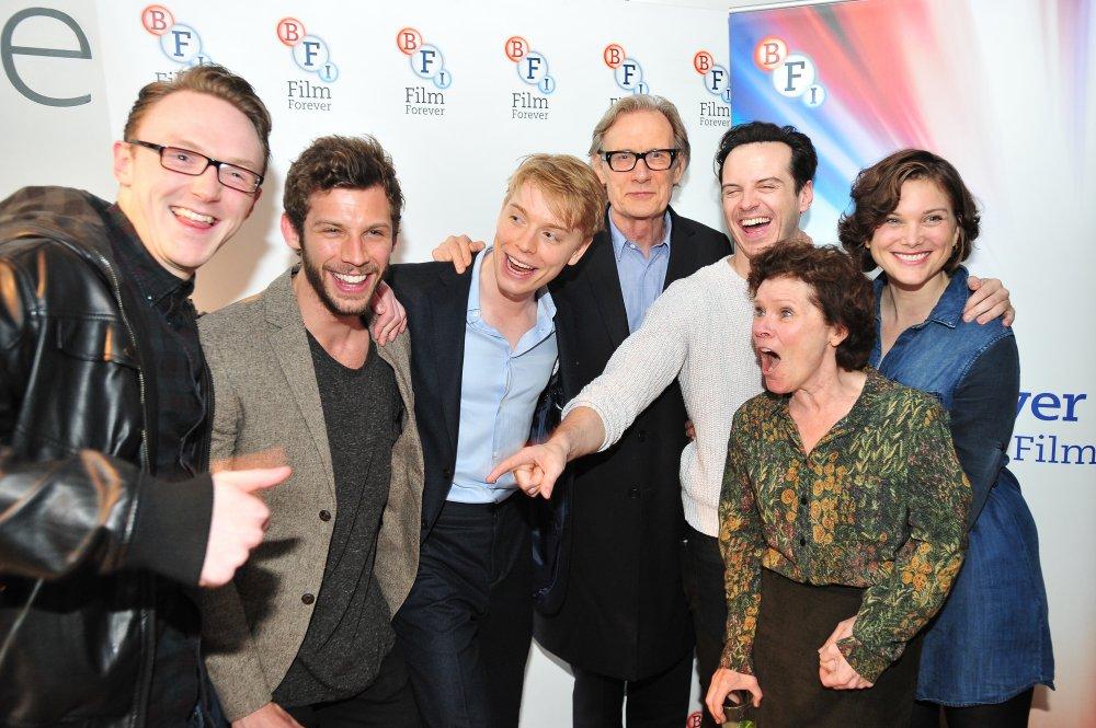 Pride cast members Joshua Hill, Chris Overton, Freddie Fox, Bill Nighy, Andrew Scott, Imelda Staunton and Liz White