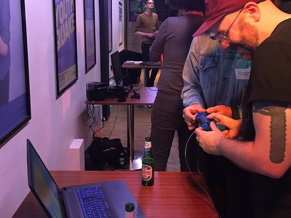 Developer demos at the networking session