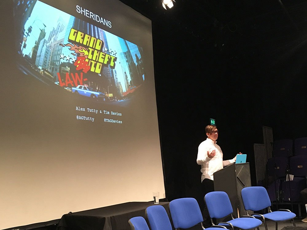 Tim Davies (Sheridans) presents 'Grand Theft Lawto – Legal Simulator'