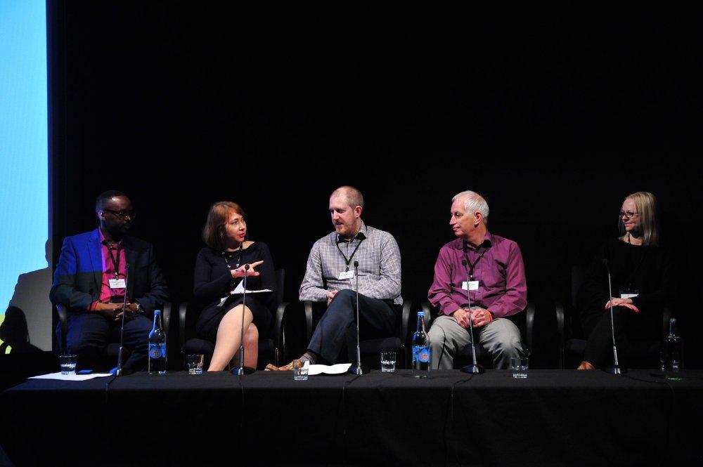 Moses Nyachae (Saffery Champness), Anna Mansi (BFI), Adrian Maloney (HMRC), Des Ryan (HMRC), Donna Orlowski (Chucklefish Games)