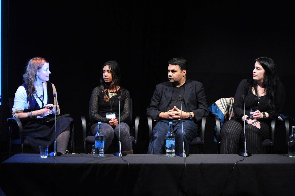 Jo Twist (Ukie), Mitu Khandaker-Kokoris (The Tiniest Shark), Shahid Ahmad (SCEE), Rhianna Pratchett