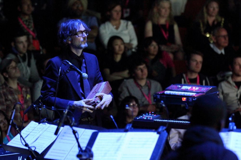 Jarvis Cocker performing the score for The Big Melt at Sheffield Doc/Fest 2013