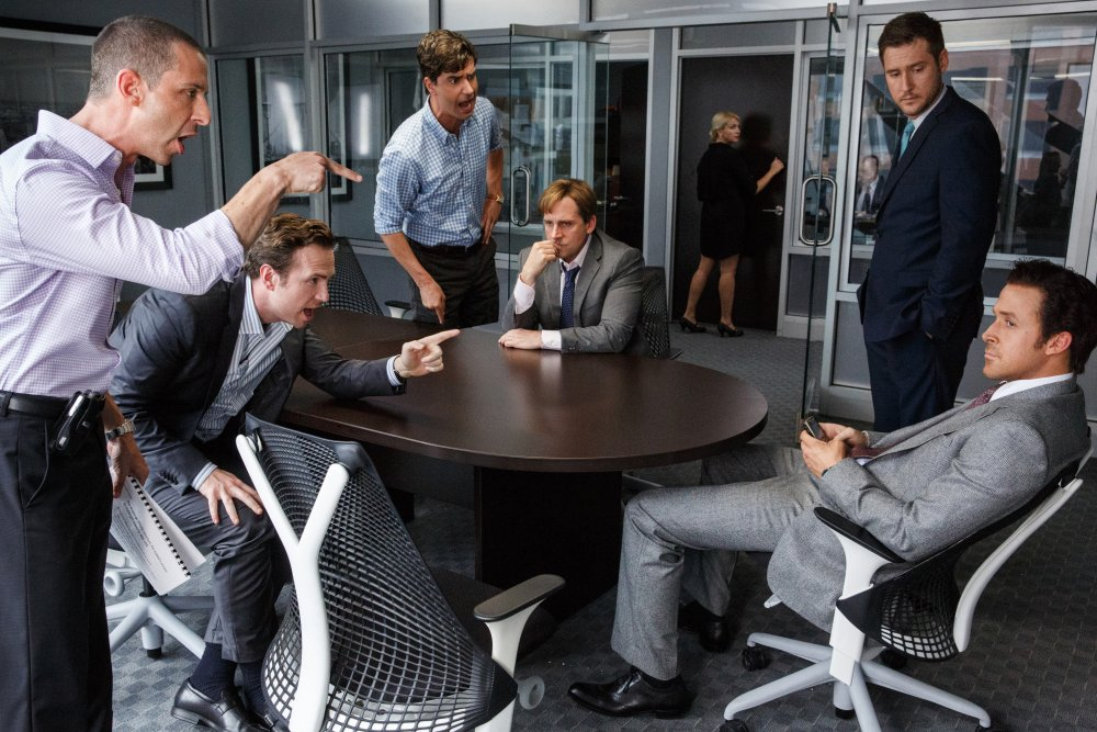 A tempest around the boardroom table of Steve Carell's hedge-fund manager Mark Baum