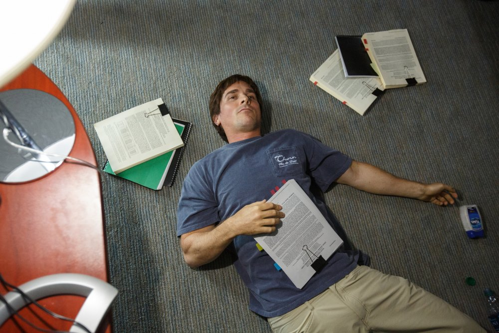 Christian Bale as perspicacious hedge-fund manager Michael Barry in The Big Short (2015)