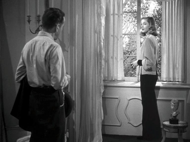 Lauren Bacall asks the questions in The Big Sleep (1946)