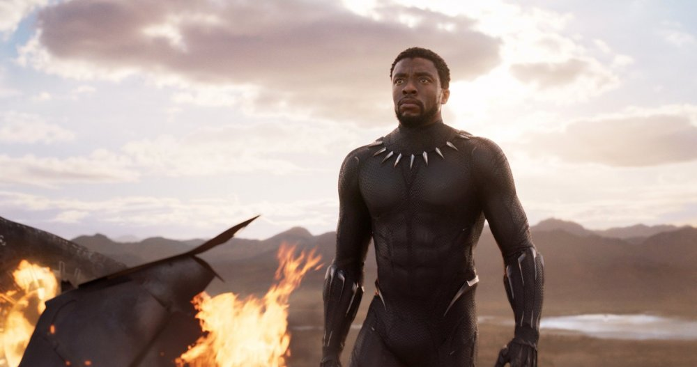 Chadwick Boseman as T'Challa aka Black Panther in the film of the latter name