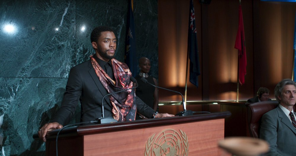 Chadwick Boseman as T'Challa aka Black Panther in the movie of the latter name