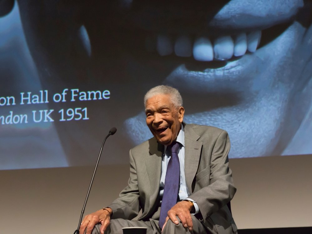 Film legend Earl Cameron CBE discusses his incredible career following a screening of Pool of London at BFI Southbank, London