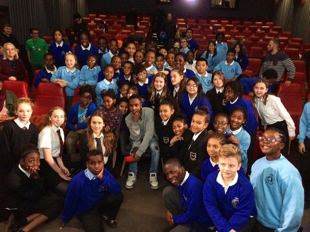 INTO Film All Stars explore Black Star with local school children at the Barbican, London