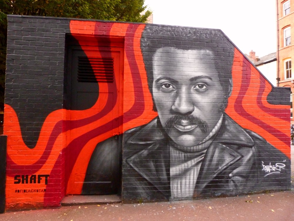 Who's the cat that won't cop out when there's danger all about? Shaft arrives in Manchester