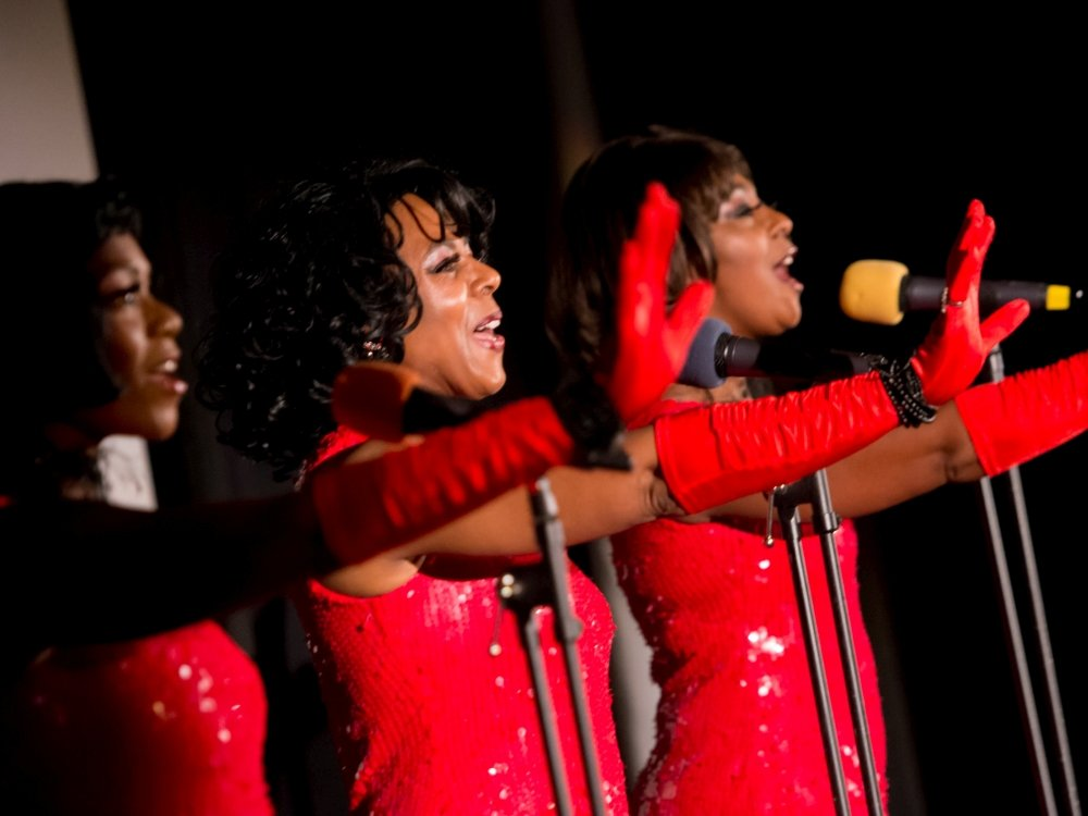 The Soul Supremes perform at the Black Star opening night screening of Dream Girls (2006) at Watershed, Bristol