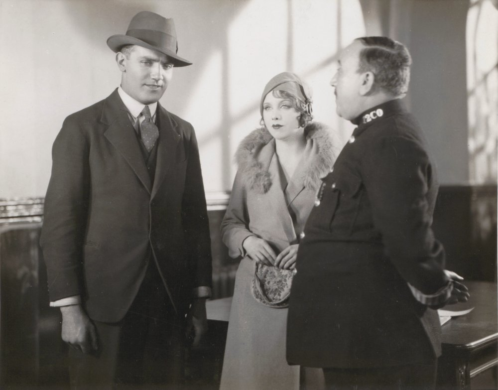 John Longden and Anny Ondra (left and centre) in Blackmail